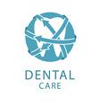 Dental logo shape tooth health care concept vector