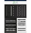 High detailed stitches and dividers set vector