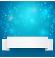 White sheets of paper on a christmas background vector