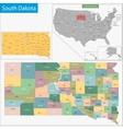 South dakota map vector