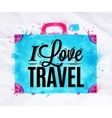 Suitcase watercolors travel vector