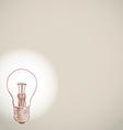 Idea lightbulb sketch on white background banner vector