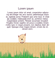 Dog with empty frame on white background vector
