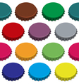 Bottle caps seamless background pattern vector