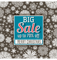 Christmas background and sale offer label vector