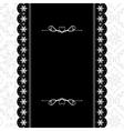 Card design vintage ornate frame vector