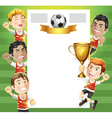 Children soccer scoreboard vector