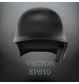 Baseball helmet front view  isolated vector