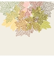 Background greeting card with stylized autumn vector
