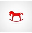 Rocking horse symbol icon vector