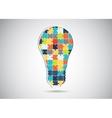 Puzzle piece light idea bulb vector