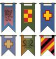 Heraldic banners vector