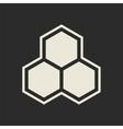 Hexagon icon honeycomb vector