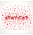 Services word with in alphabets vector