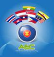 Flag of asean economic community aec 02 vector