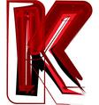 Artistic font letter k vector