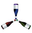 Wine bottles trio vector