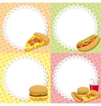 Fast food backgrounds vector