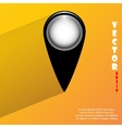 Map pointers flat modern web button with long vector