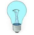 Old electric bulb on a white background vector