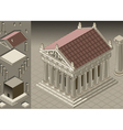 Isometric greek temple ionic architecture vector