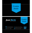 Black creative business card vector