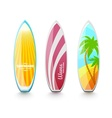 Surfboards for surfing vector