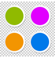 Colorful empty circle stickers - labels set on vector