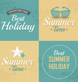 Vintage styled summer vector