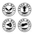 Fresh meat labels set vector