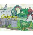 Calgary doodles vector