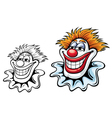 Cartoon circus clown vector