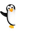 Penguin cartoon with blank sign vector