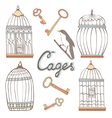 Cages collection vector