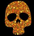 Skull pattern circles vector