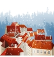 Winter city landscape vector