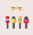 - microphones journalism live news news vector