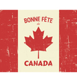 Vintage canada day poster vector