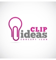 Clip ideas concept symbol icon or logo template vector
