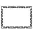 Greek style black ornamental decorative frame vector