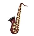 A musical tenor saxophone vector