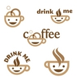 Coffee drink me emblem vector