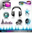 Music and media icon collection vector
