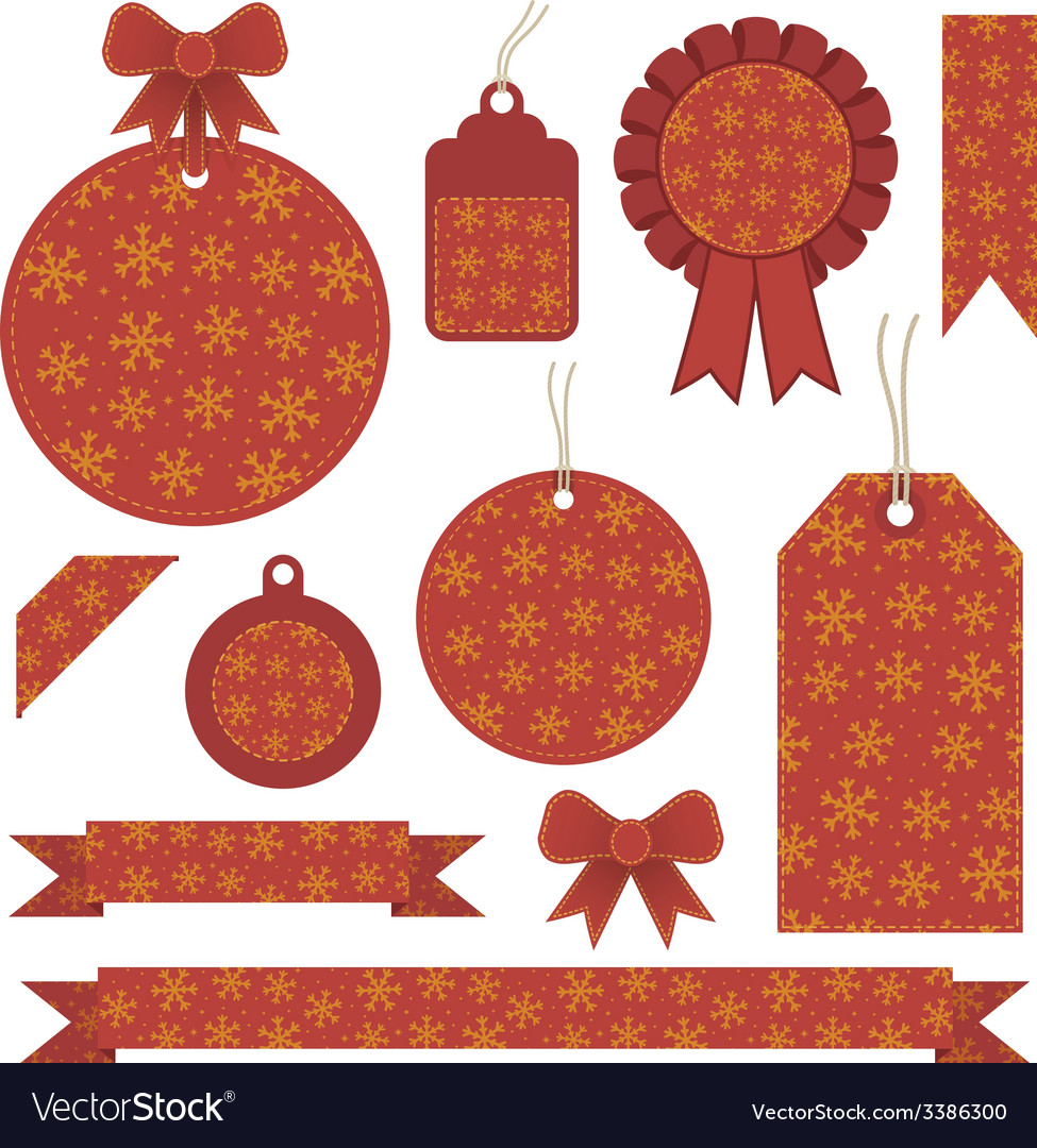 Christmas labels vector | Price: 1 Credit (USD $1)