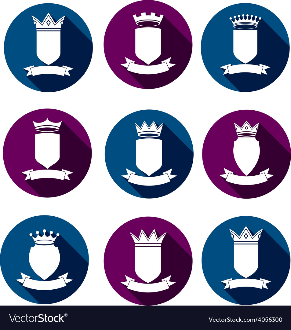 Decorative coat of arms protection theme symbols vector   Price: 1 Credit (USD $1)