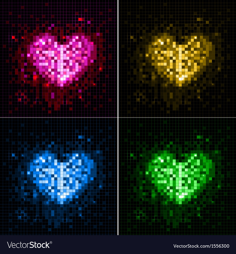 Disco neon heart vector | Price: 1 Credit (USD $1)