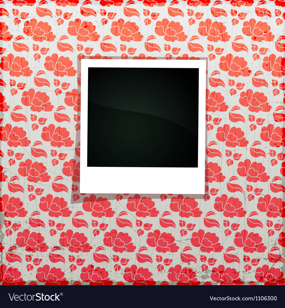 Flower photo frame banner vector | Price: 1 Credit (USD $1)