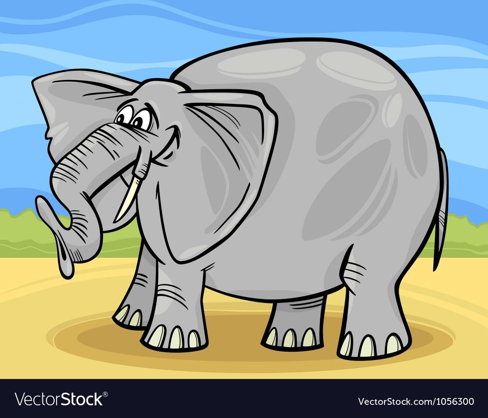 Funny elephant cartoon vector | Price: 1 Credit (USD $1)