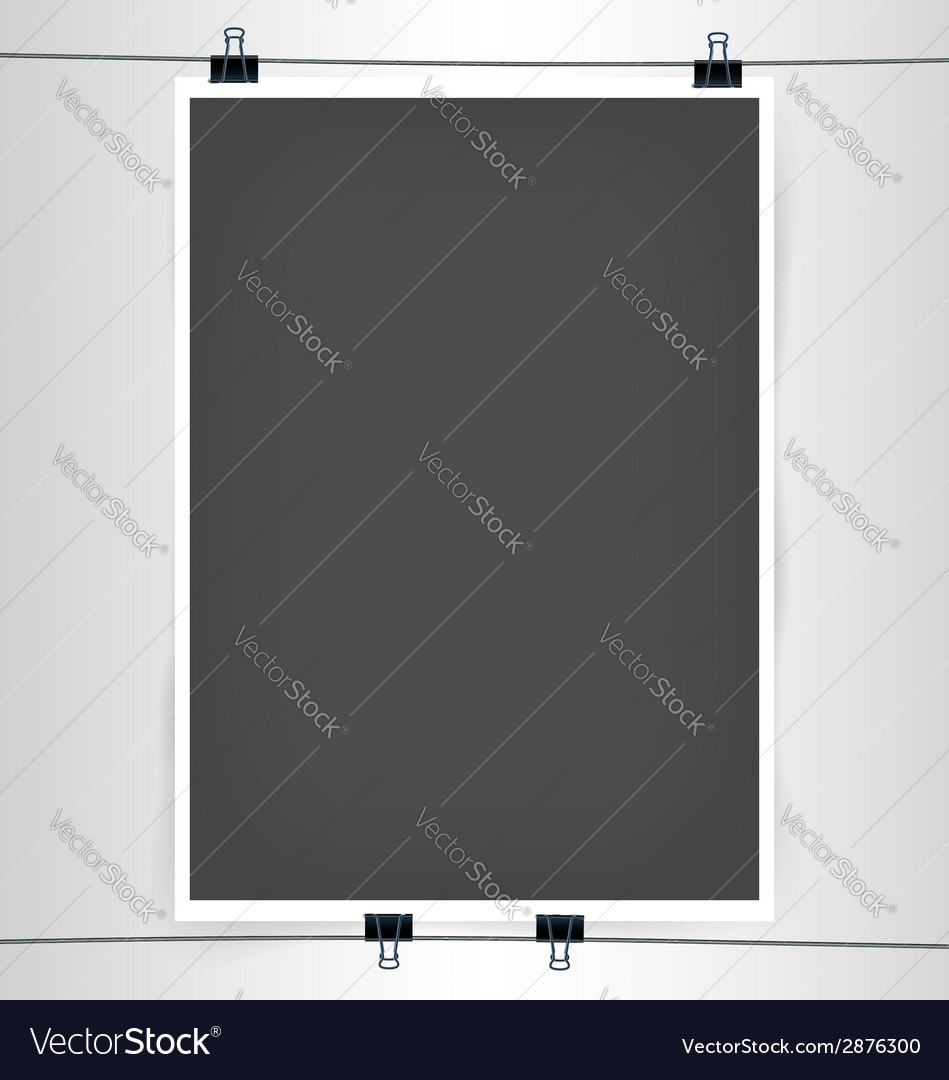 Poster cliped to wire vs vector | Price: 1 Credit (USD $1)