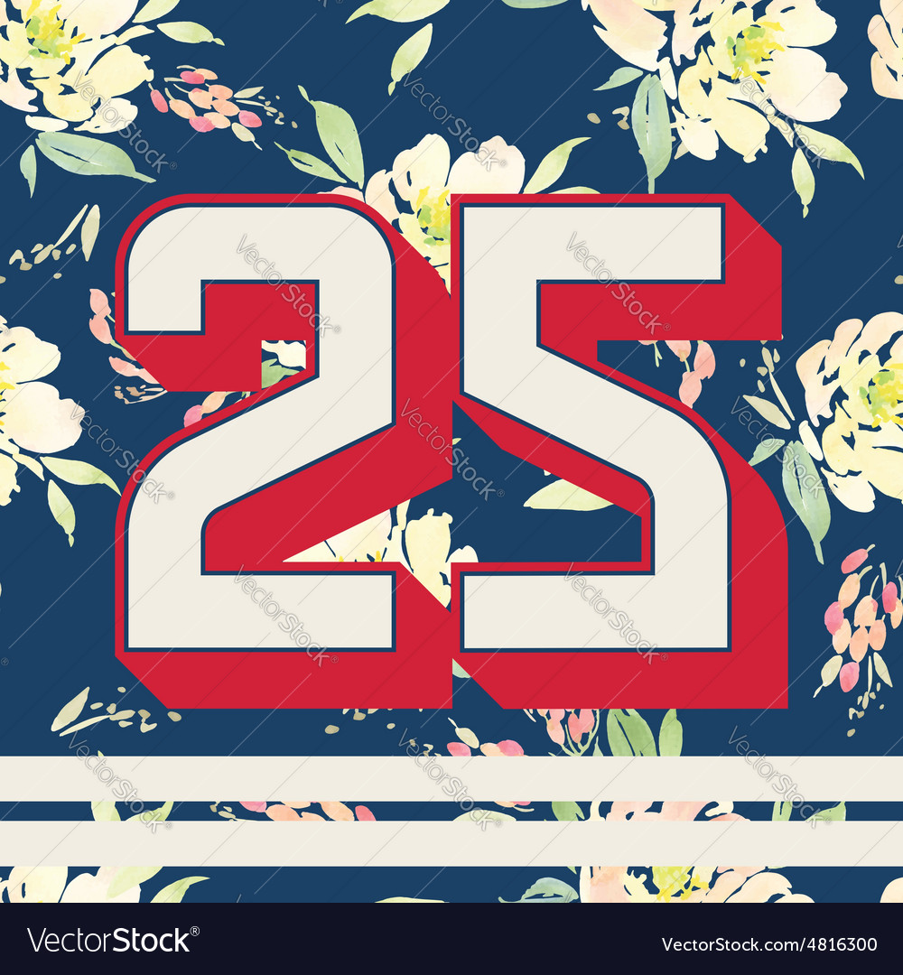Print for tshirts with numbers modern design vector